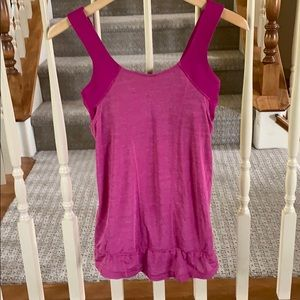 Lululemon pink athletic tank size small